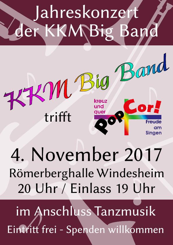 Jahreskonzert 2017 20:00 Uhr Römerberghalle Windesheim